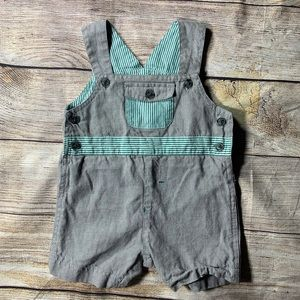 Wendy Bellissimo chambray Shorts Overalls